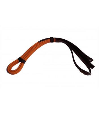 Galopptyglar - Läder med gummigrepp - Öglor - 19 mm